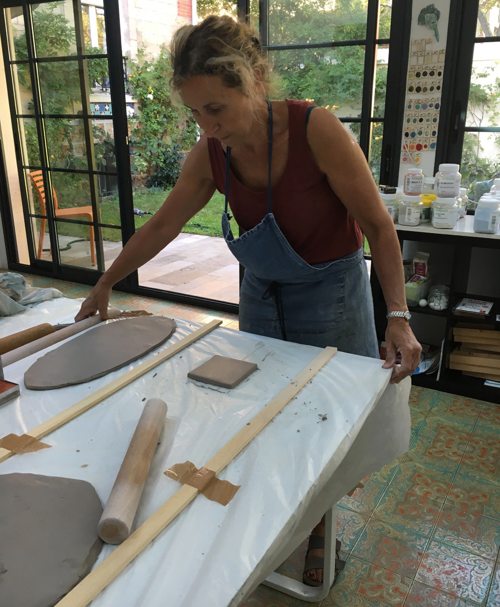 Installer la table qui permettra del'ataler afin d'en faire des carreaux