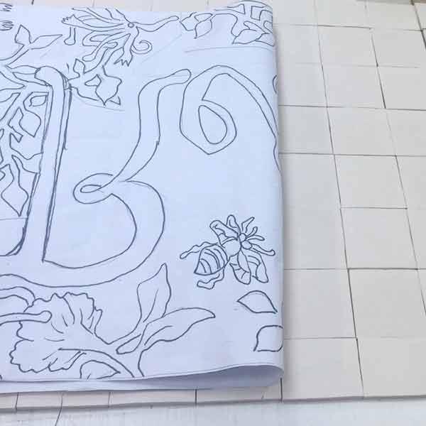De la maquette aux motifs reproduitx sur les carreaux