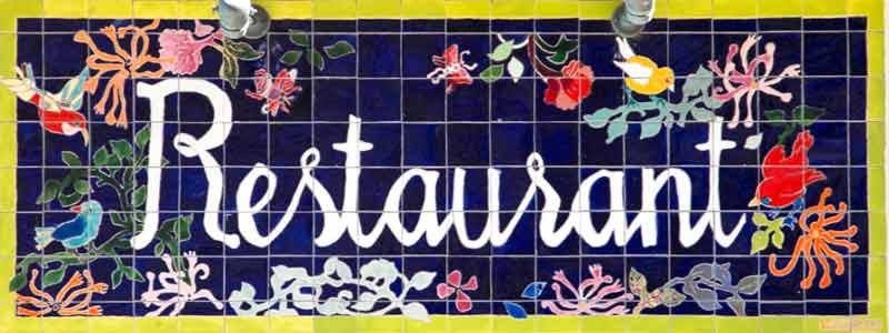 Céramiques décoratives du restaurant Castor Bellux